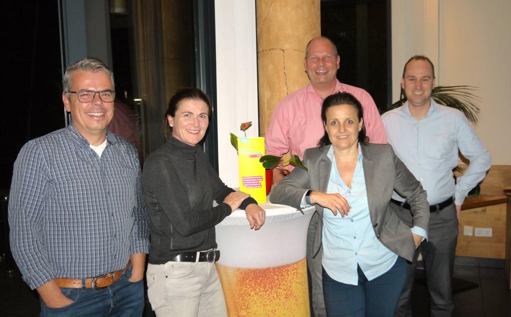 vlnr.: Jörg Reimuth, Dr. Astrid Schmidt, Frank Zimmermann, Nicole M. Pfeffer und Markus Krebs